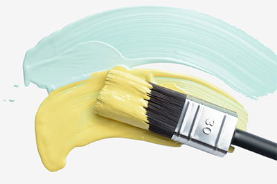 Cling on paintbrushes
