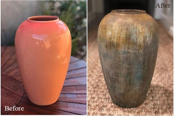 Before after vase